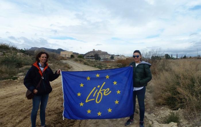 Responsables de las empresas DEPURACIÓN DE AGUAS DE LORCA y de la EDARI DE CURTIDOS visitan el Proyecto LIFE Riverphy