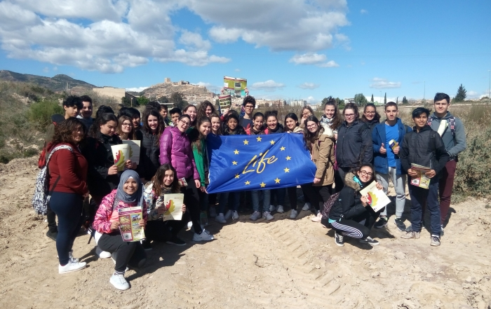 Students IES Príncipe de Asturias visit the LIFE Project Riverphy